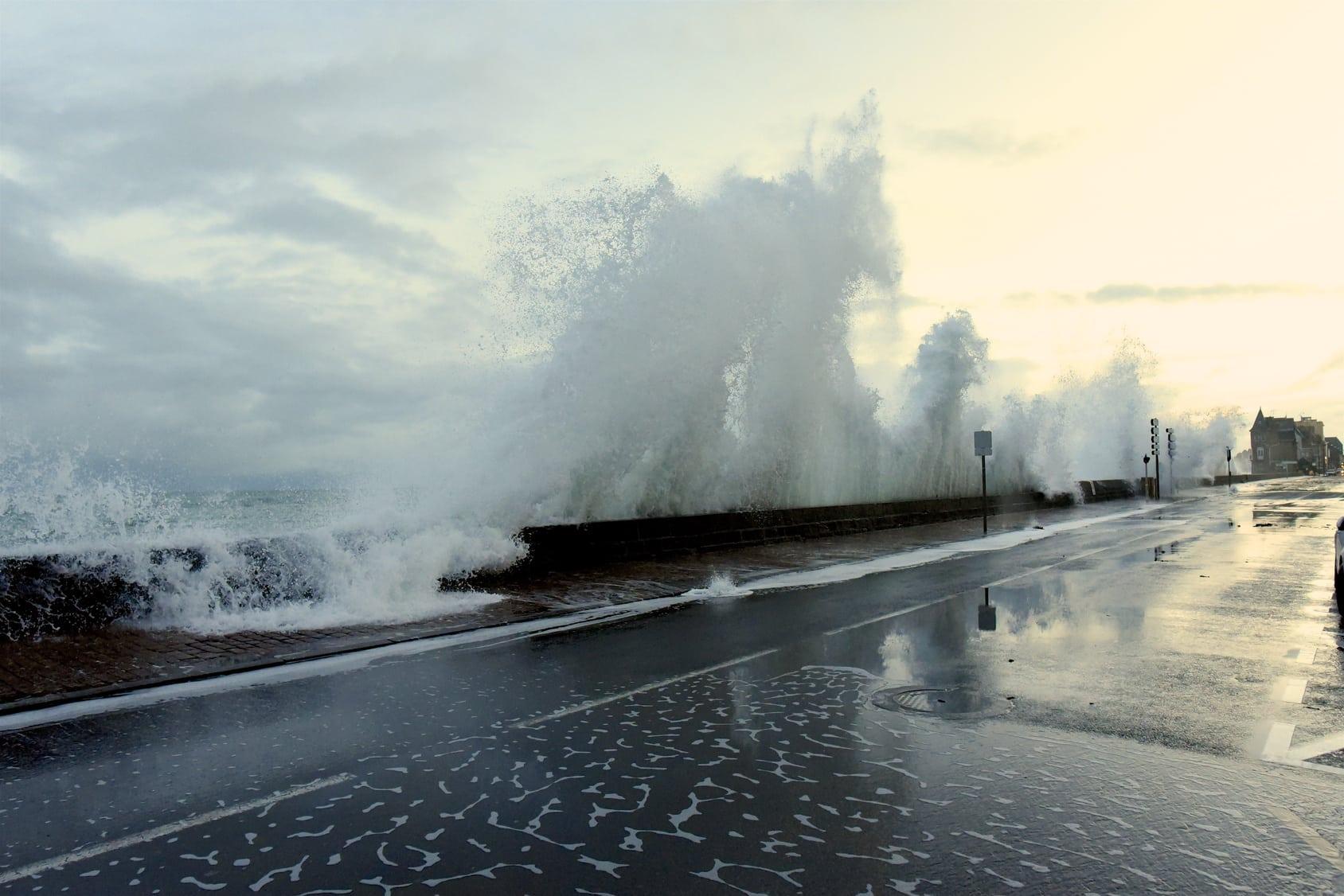 Une grande marée à Saint Marlo